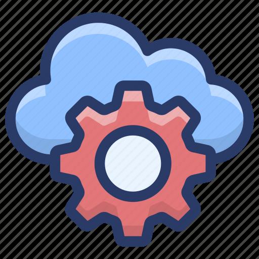 cloud computing, cloud configuration, cloud management, cloud setting, cloud technology icon