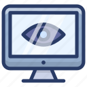 computer monitoring, internet monitoring, network monitoring, online monitoring, remote monitoring icon