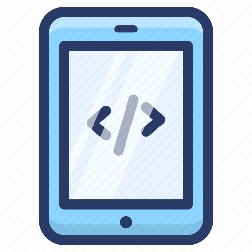 code optimization, html coding, mobile coding, mobile development, mobile programming icon