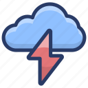 cloud thunder, lightning, meteorology, thunder bolt, thunderstorm icon