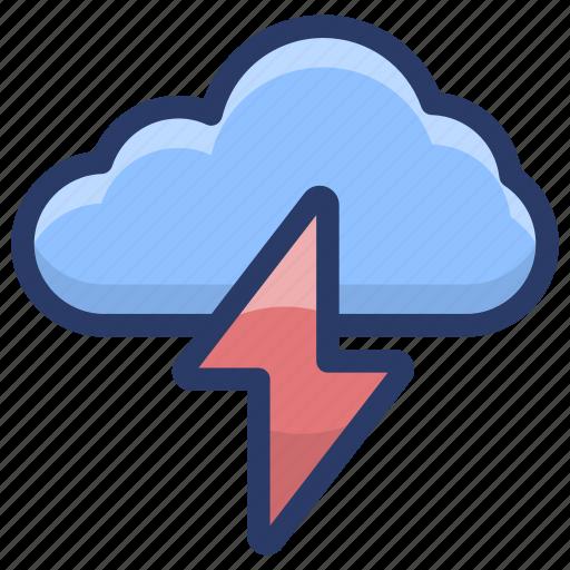 cloud thunder, lightning, meteorology, thunder bolt, thunderstorm icon