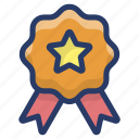 award badge, badge, quality symbol, reward, ribbon badge icon