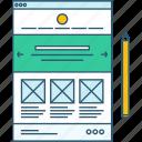 content, development, interface, layout, management, seo, website icon