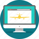 flight, land, landing, landingpage, layout, web, webpage icon