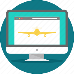 flight, land, landing, landingpage, layout, web, webpage icon