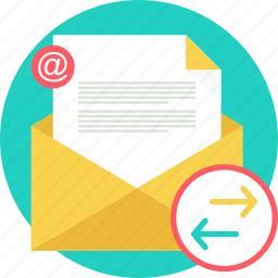 email, envelope, inbox, letter, mail, post, send icon