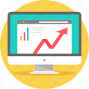 diagram, graph, growth, progress, report, seo, views icon