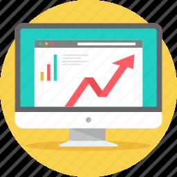 diagram, graph, growth, progress, report, seo, views icon