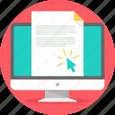 document, edocument, printout, desktop, cursor, paper, output
