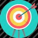arrow, board, bullseye, dart, focus, seo, target icon