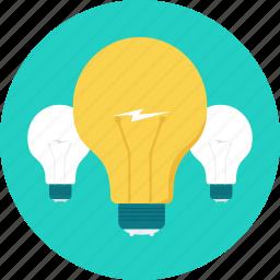 bulb, energy, idea, innovation, light, lightbulb, power icon
