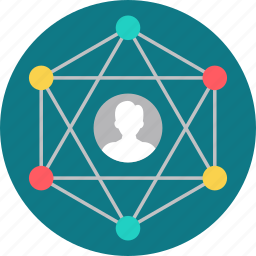 connection, contact, network, online, social, user, web icon