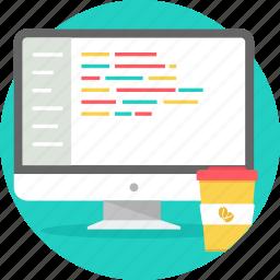 code, coding, development, html, language, program, programming icon