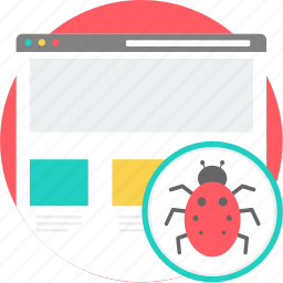 alert, bug, code, coding, development, error, insect icon