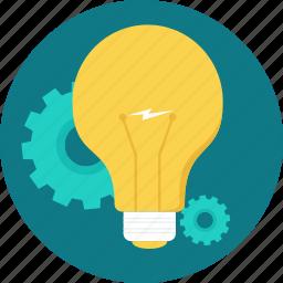 bulb, creativity, energy, idea, power, technic, think icon