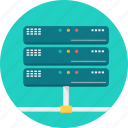 cloud, database, hard disk, hosting, network, server, storage icon