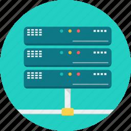 cloud, database, hard disk, hosting, network, server, storage icon