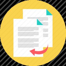 copy, document, duplicate, paste, photocopy, print, transcript icon