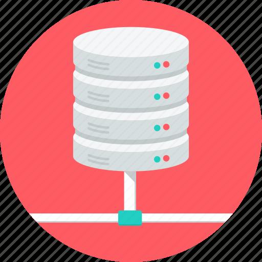 connection, data, database, disk, hardware, server, storage icon
