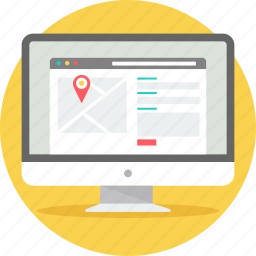 contact, form, gps, location, map, navigation, page icon