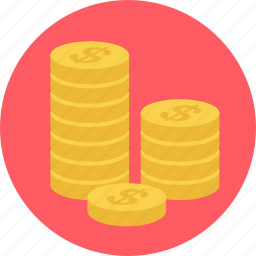 cash, coin, coins, dollar, finance, money, payment icon