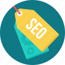 marketing, optimization, promotion, search, seo, tag, tags icon
