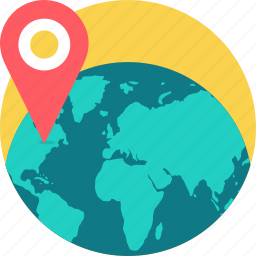globe, gps, location, map, navigation, place, point icon