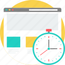 clock, layout, loadtime, speed, watch, web, webpage icon