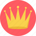 achievement, crown, goal, king, reward, success, win icon