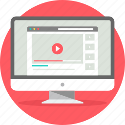 media, page, player, ui, video, website, youtube icon