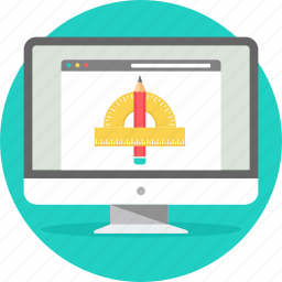 computer, creative, design, drawing, graphic, shape, stationary icon
