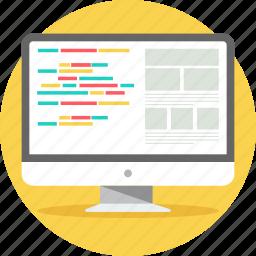 computer, desktop, html, layout, pc, programming, system icon