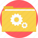 folder, gear, repair, setting, settings, tool, tools icon