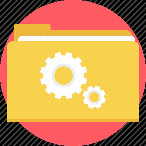 folder, gear, repair, setting, settings, tool, tools icon