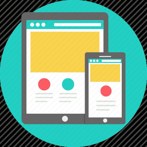 design, duplicate, mobile, navigation, responsive, tablet, ui icon