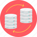 arrow, change, data, database, server, storage, transfer icon