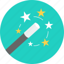 art, creative, design, magic, magic wand, star, stick icon