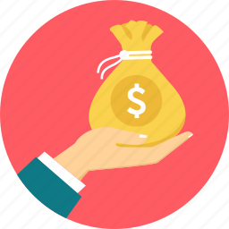 bag, dollar, finance, financial, money, online earnings, payment icon