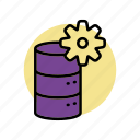 database, network, rack, server, storage icon