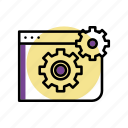 gears, net, optimiazation, seo, settings, success icon