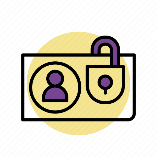 id, id-card, padlock, protected, safety, security icon