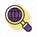 glasses, globe, magnifying glass magnifying, search icon