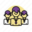 business, crew, group, people, team icon