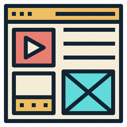 content, media, picture, text, website icon