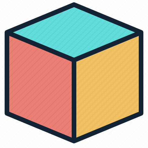 cube, dimension, element, geometric, package icon