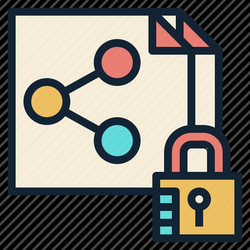 file, key, lock, security, sharing icon