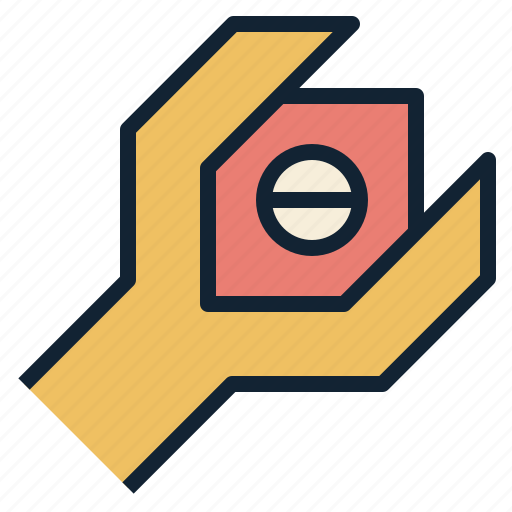 hex, maintenance, tool, wrench icon