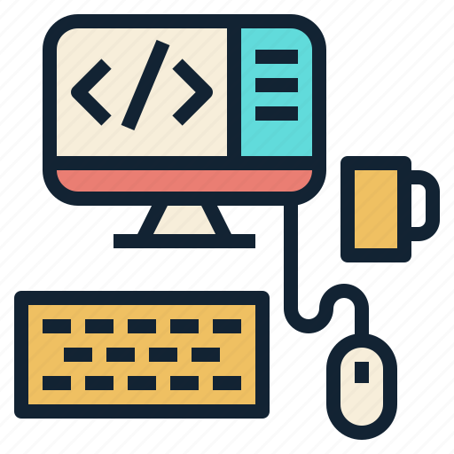 coding, content, desktop, programming, web, workspace icon