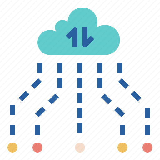 cloud, data, difference, location, sharing icon