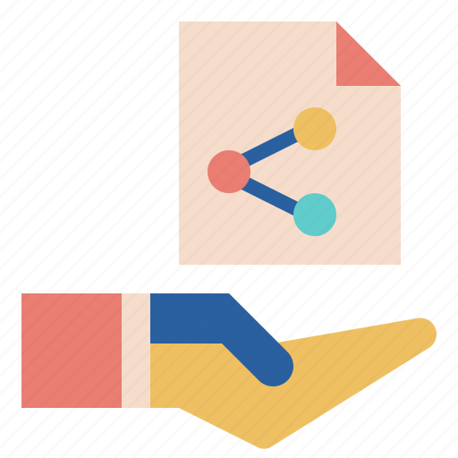 data, file, hand, offer, sharing icon